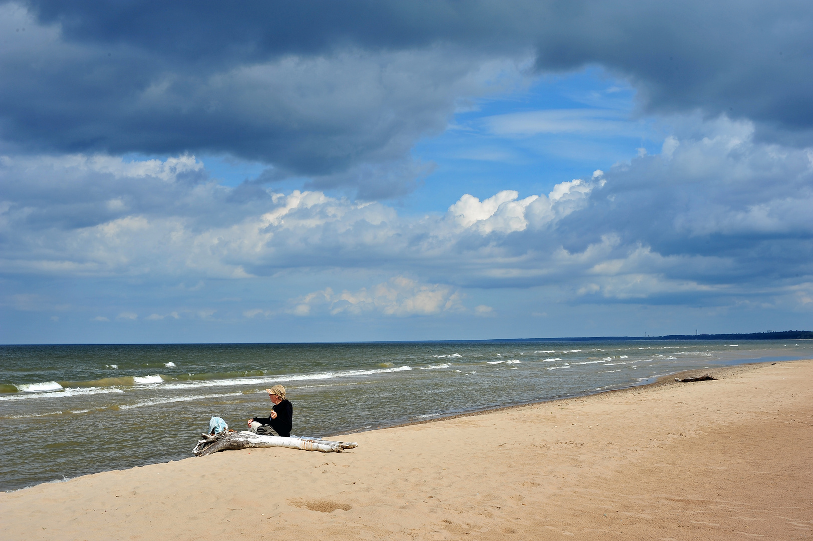 Im Baltikum am Ostseestrand