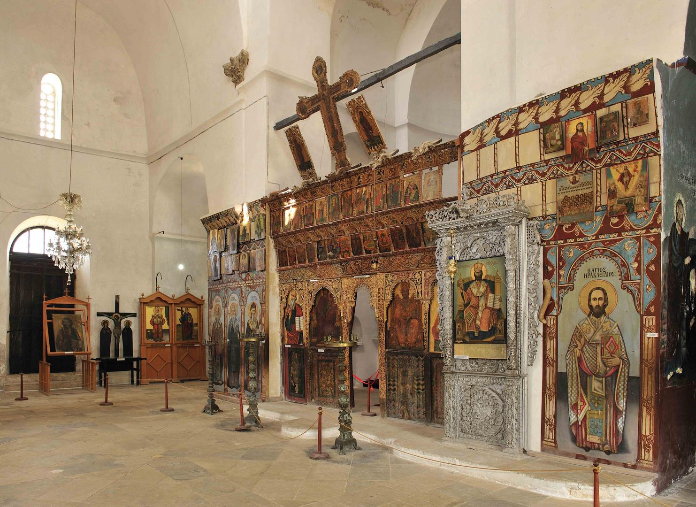 Im Barnabas-Kloster sind prachtvolle Ikonen ausgestellt