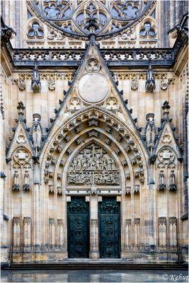 Im Blick -Details Sakralbauwerke (28) Teilansicht Westportal Sant Veitsdom