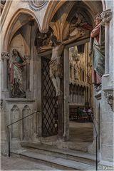 Im Blick -  Details Sakralbauwerke Blick auf die Kreuzigungsgruppe im Dom Naumburg
