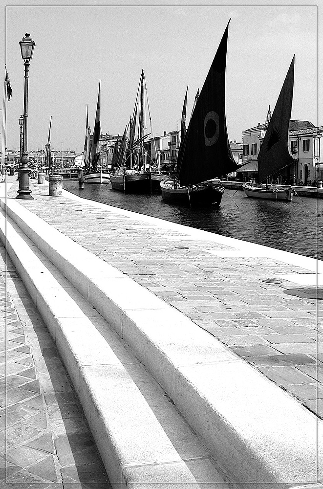 Im Bootshafen von Cesenatico