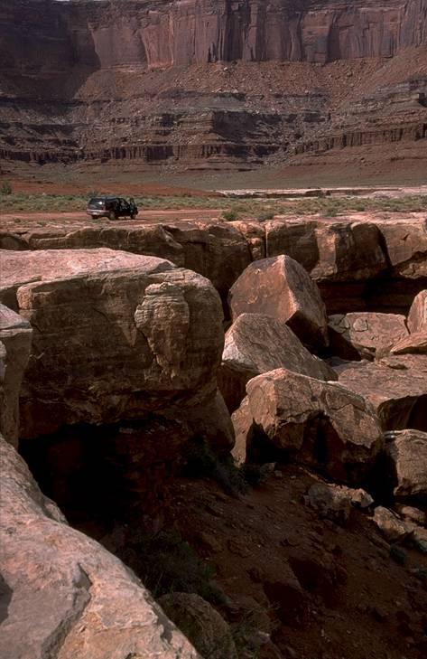 Im Canyonlands Nationalpark, Utah, auf der White Rim Road