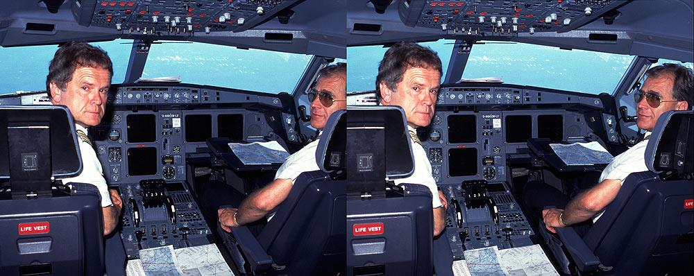 im Cockpit Airbus A340
