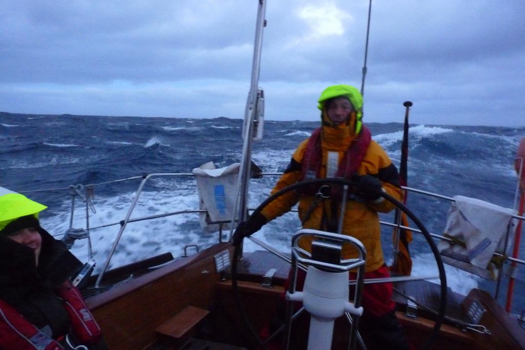 Im Cockpit bei schlechtem Wetter