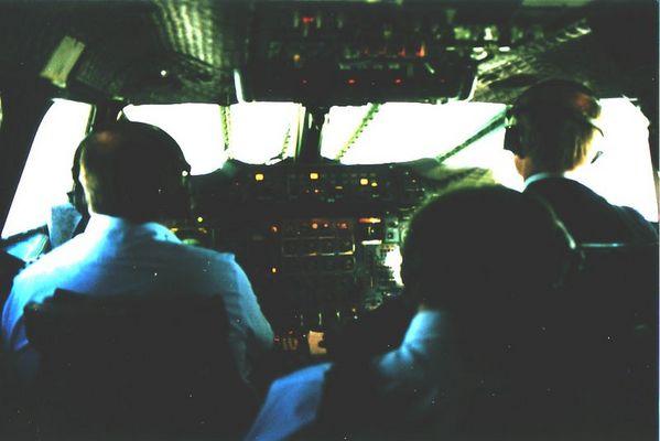 Im Cockpit der Concorde