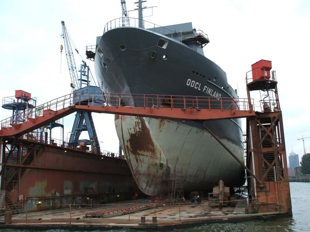 Im Dock der Norderwerft Hamburg