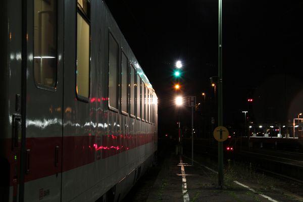 im Dunkeln nach Offenburg