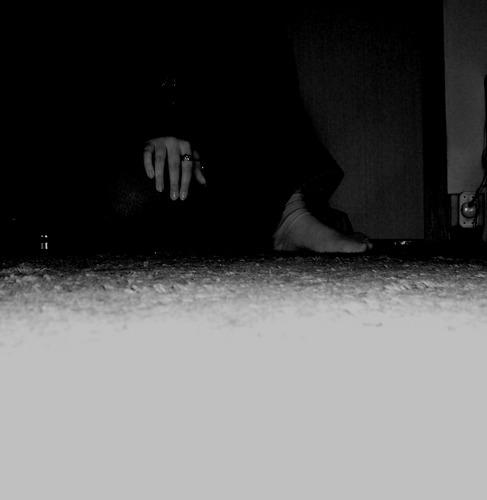 Im Dunkeln sitzen...