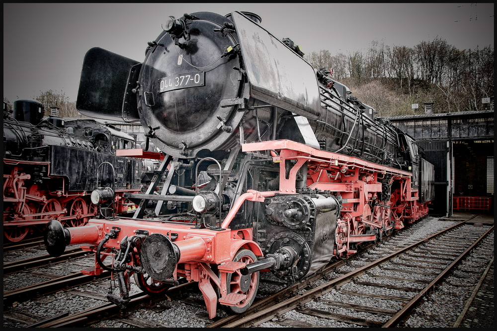 - im Eisenbahnmuseum Bochum Dampflok -