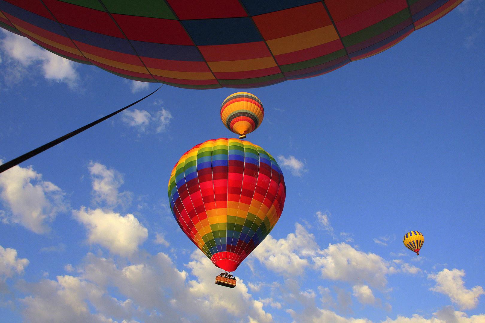 Im fahrenden Ballon