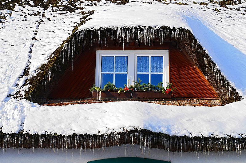 Im Fenster spiegelt sich die Seele des Hauses
