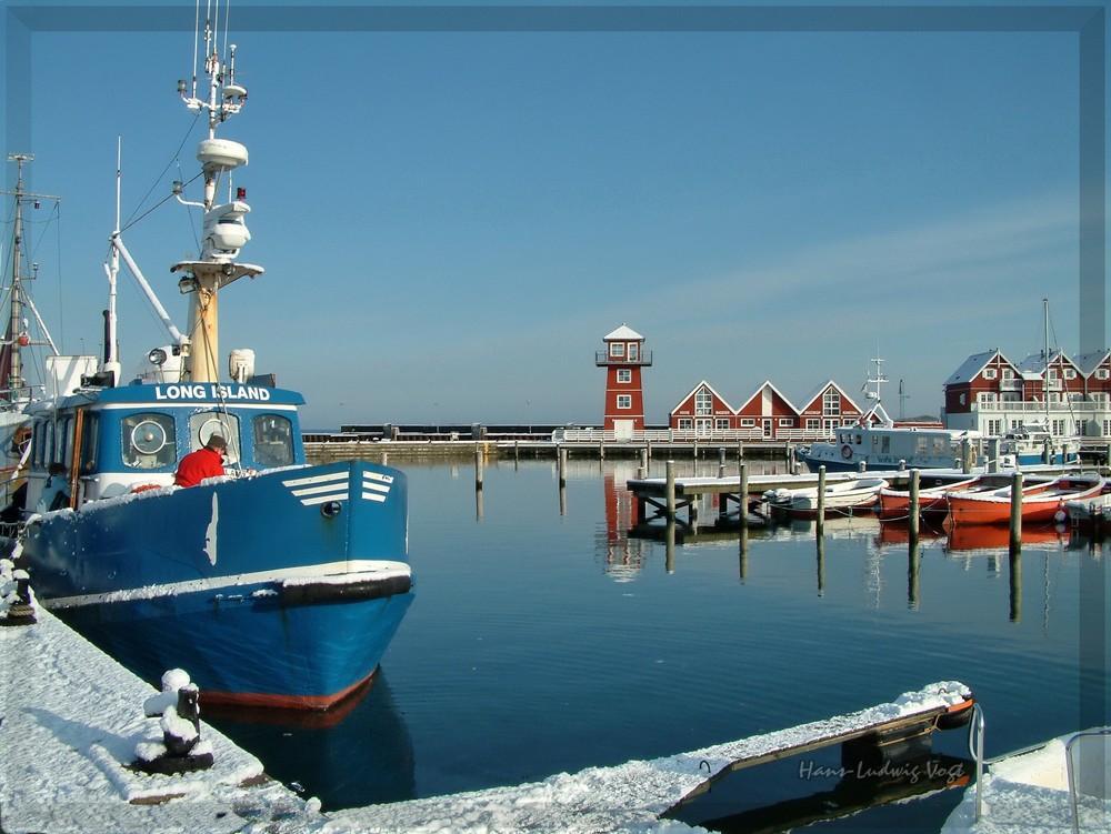Im Fischereihafen von Bagenkop auf Langeland