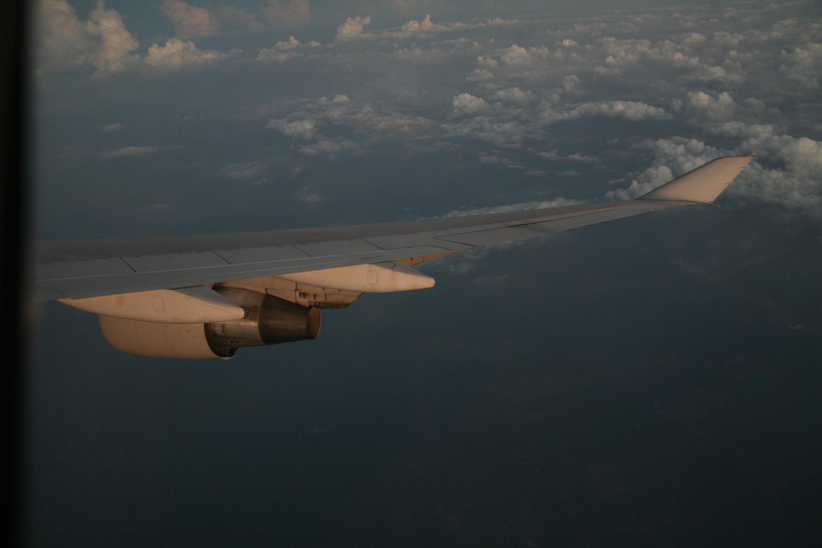 Im Flugzeug nach malaysia