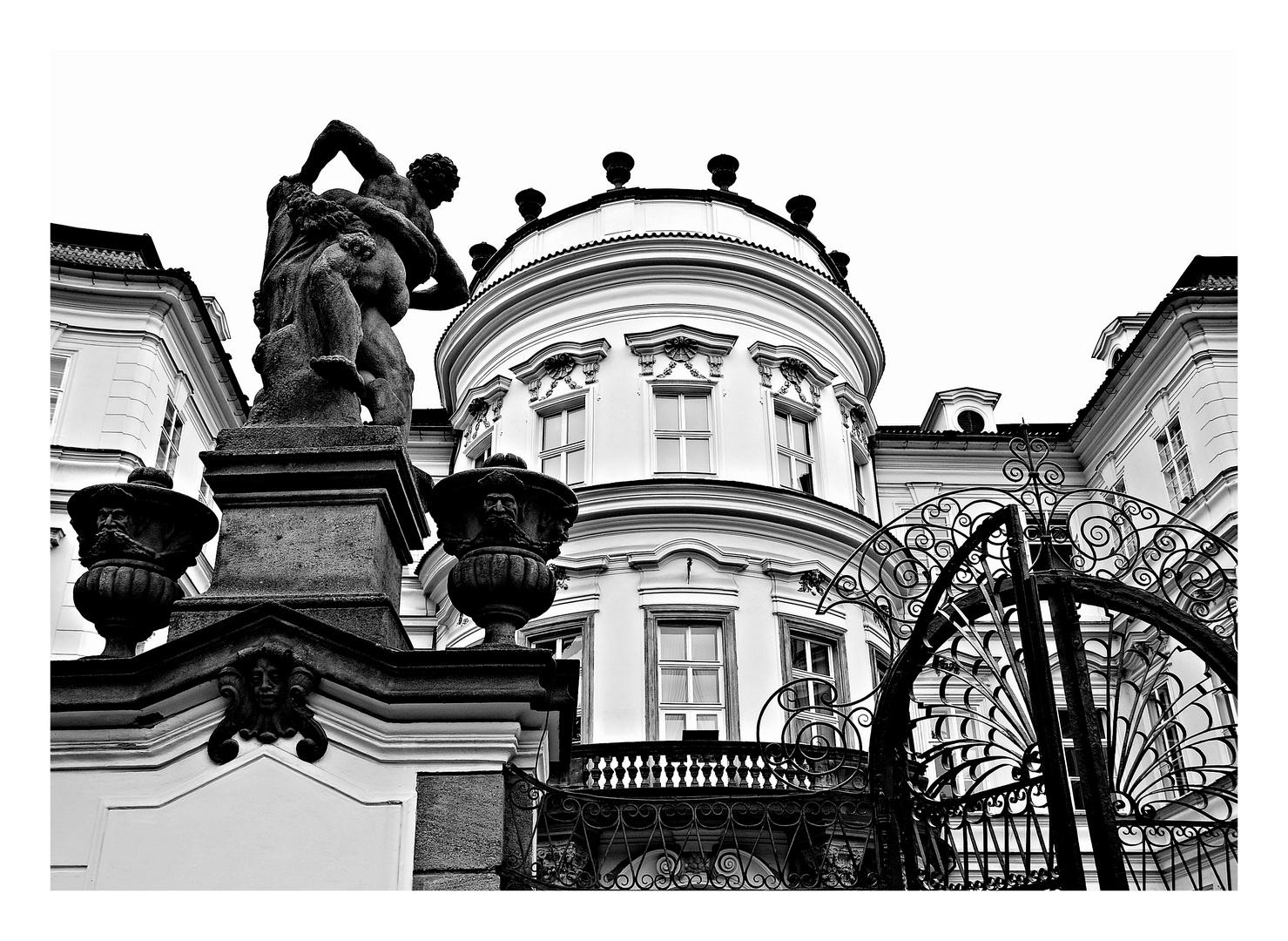 Im Garten der Deutschen Botschaft...