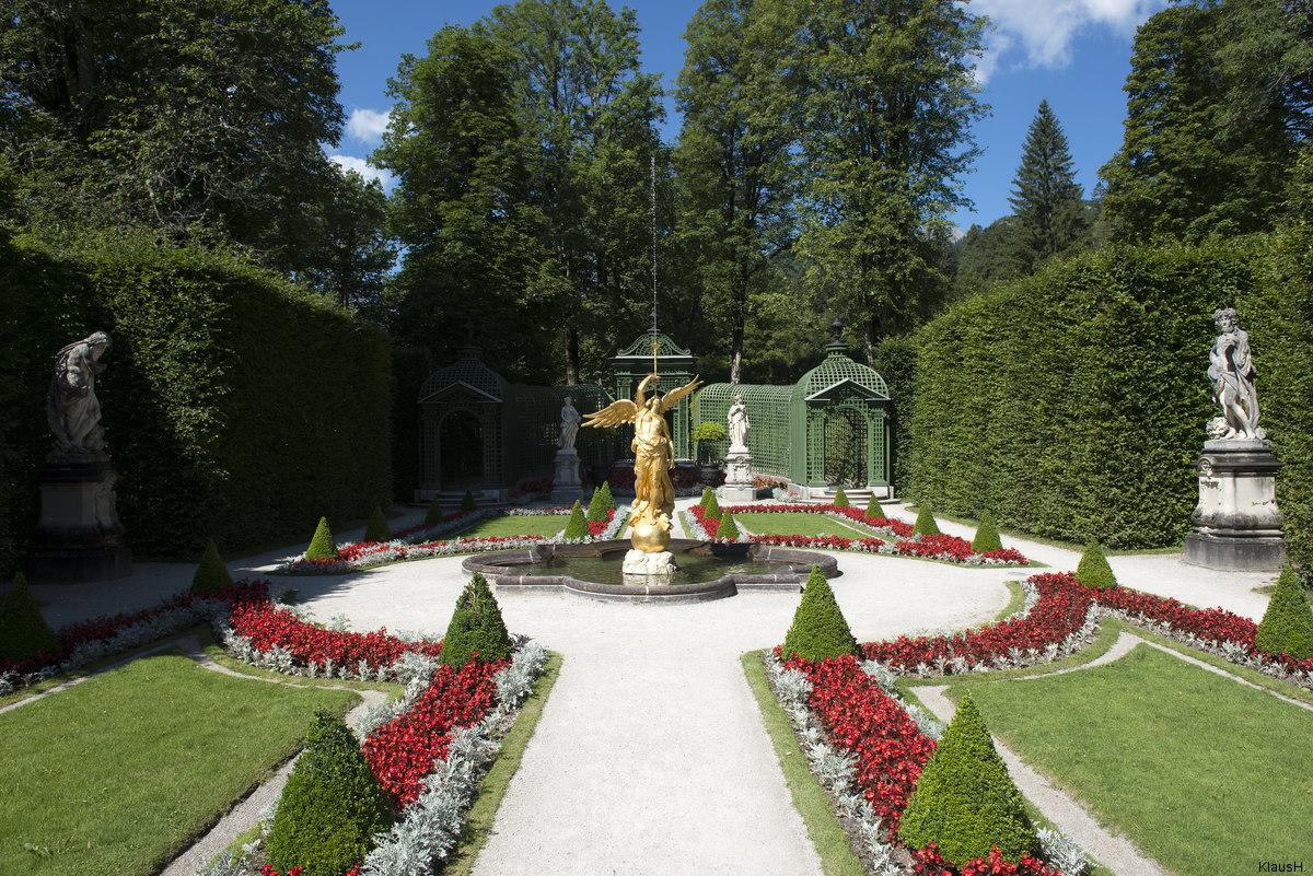 ~ Im Garten von Schloss Linderhof ~