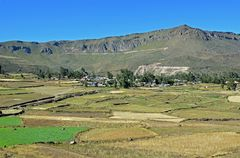 Im Gebiet des Colca-Canyons mit dem Dorf Corporaque