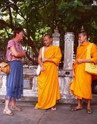 Im Gespräch mit Mönchen...