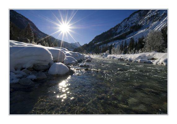 Im gleißenden Licht der Wintersonne
