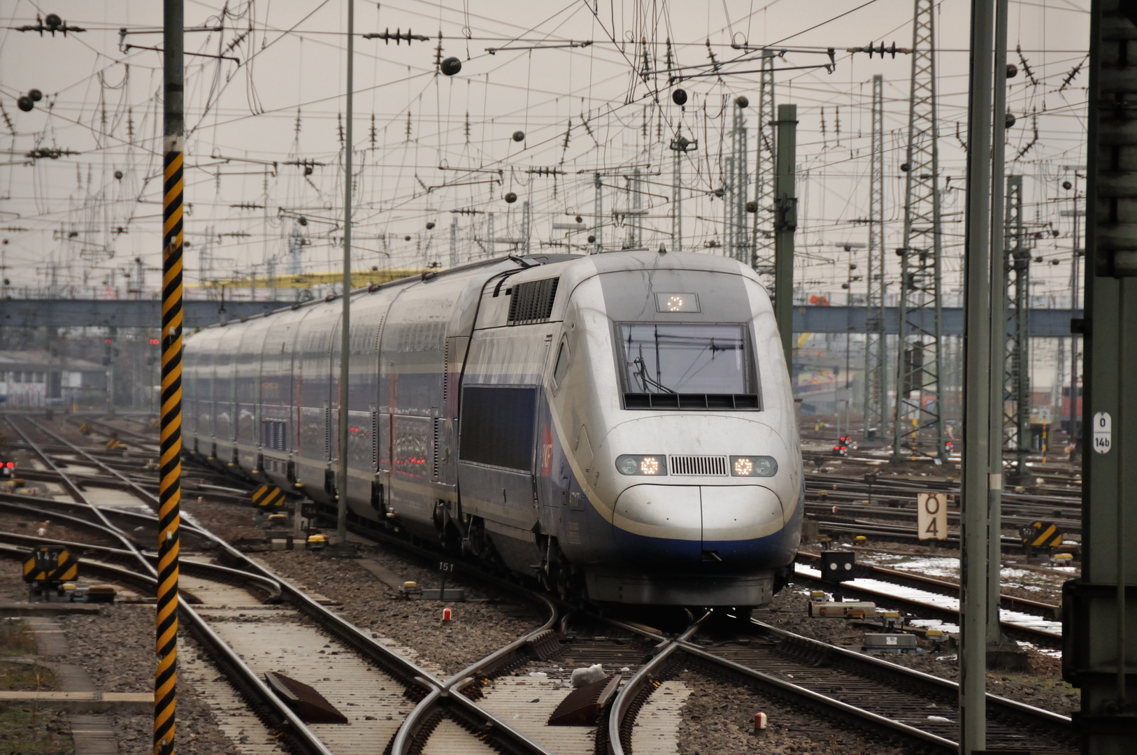 Im Gleisvorfeld des Mannheimer Hauptbahnhofes