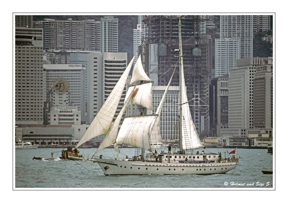 Im Hafen von Hong Kong