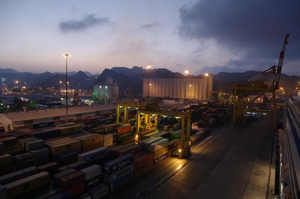 Im Hafen von Maskat