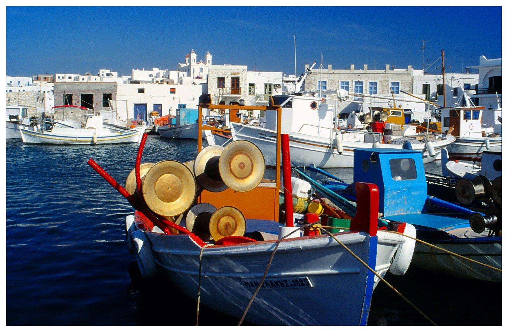 Im Hafen von Naoussa