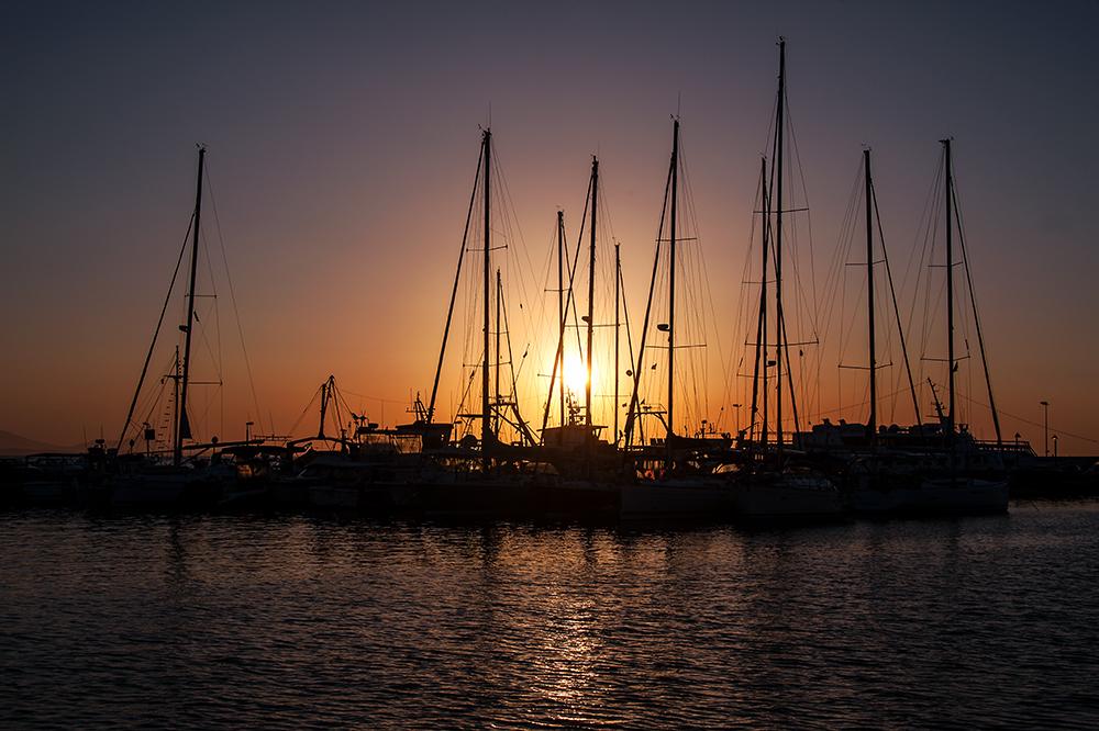 Im Hafen von Naxos.....