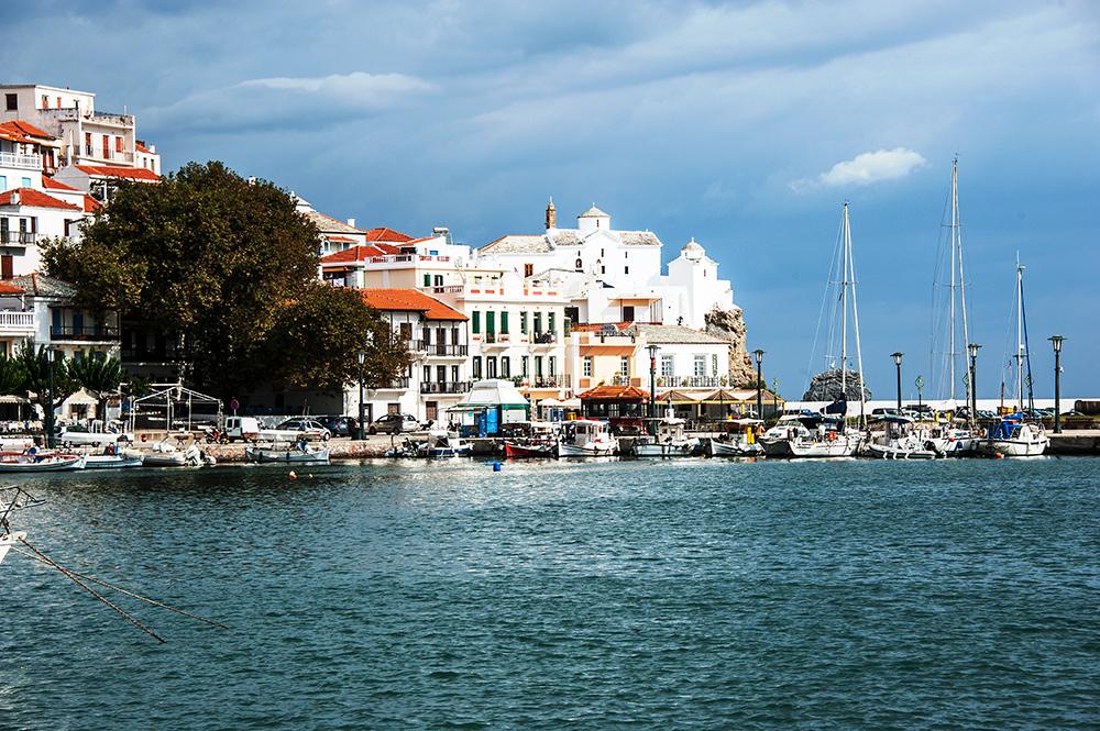 Im Hafen von Skopelos...