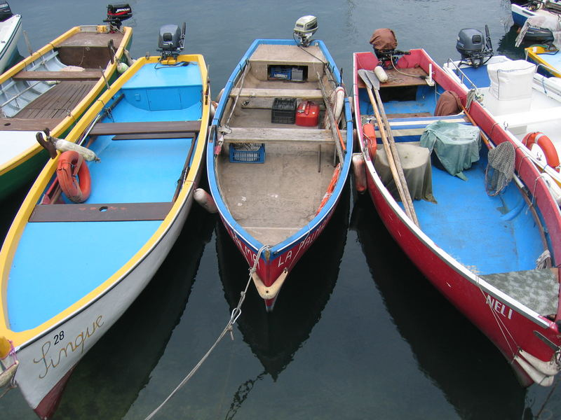 Im Hafen von Torri de Benaco/Gardasee