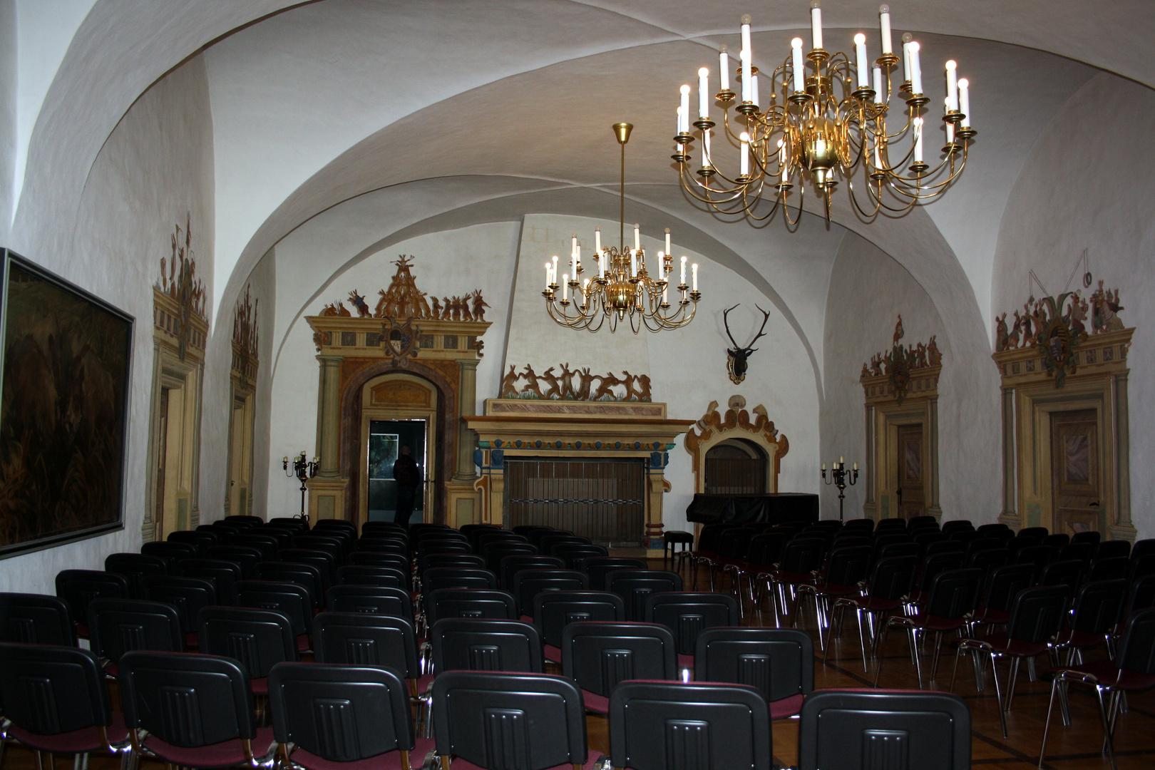 im Hasensaal auf Schloss Augustusburg