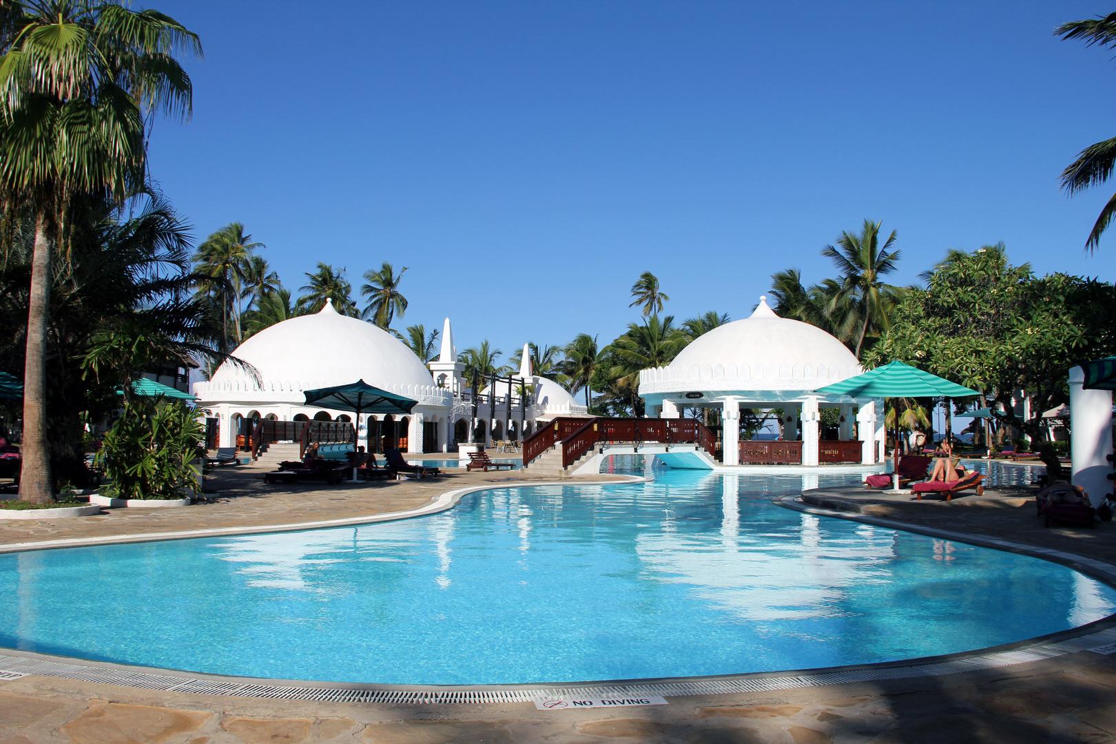 "Im Hotel ""Southern Palms Beach Resort"" angekommen"