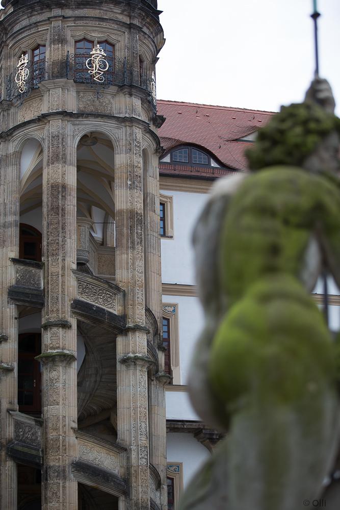Im Innenhof vom Schloß in Torgau