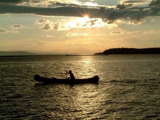 im Kanadier auf dem Lake Champlain