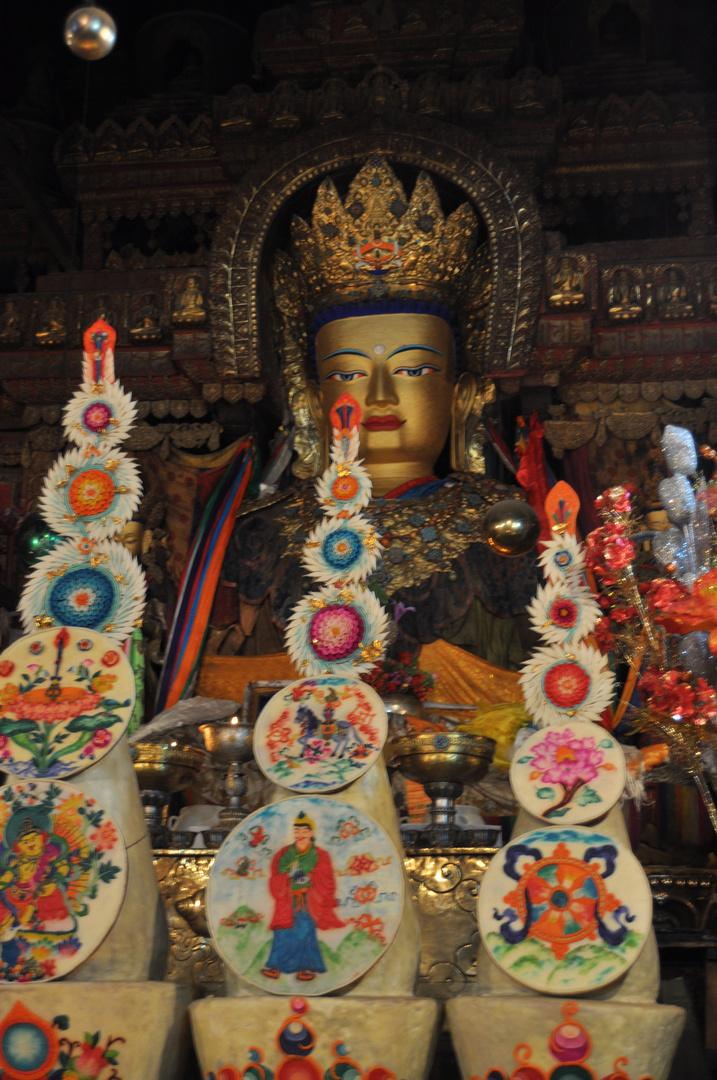 im Kloster in Gyantse, Tibet