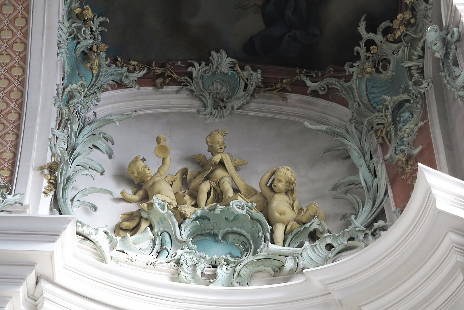 im Kloster St. Gallen, die nackten Knäblein oder blutten Putten