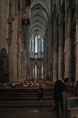 Im Kölner Dom ...