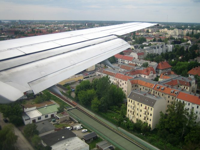 im Landeanflug in Berlin-Tegel