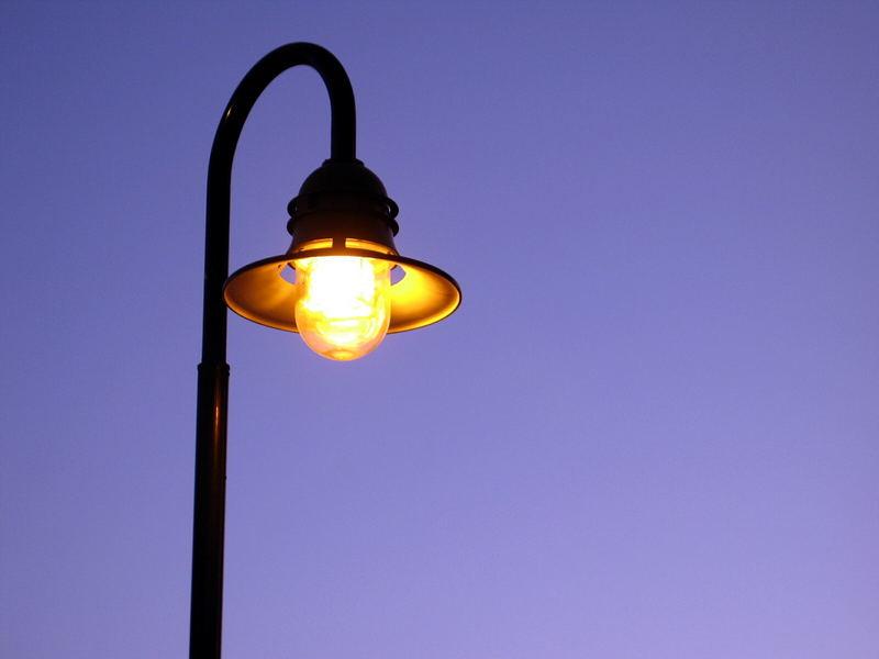 Im Lichtkegel...