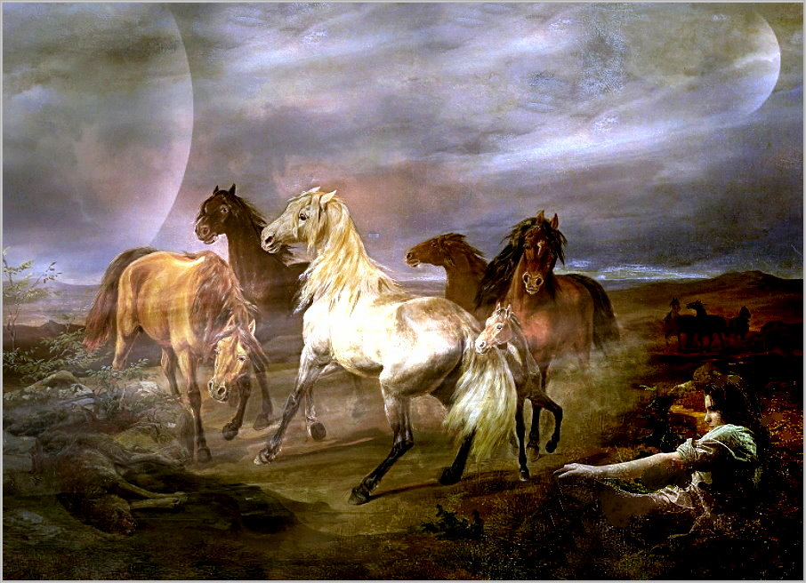 Im Moment steh ich auf Pferde....