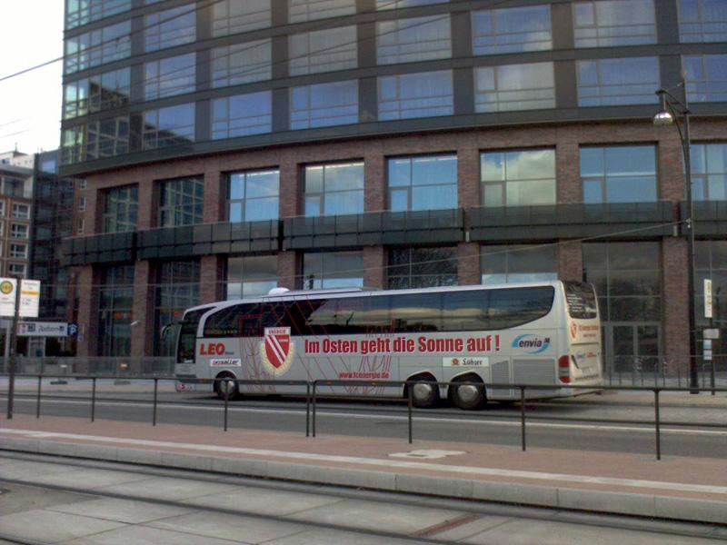 Im Osten geht die Sonne auf !!! Ich bin F C Hansa Rostock Fan Ostseestadion Der Bus ist von  Cottbus