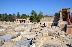 Im Palast von Knossos auf Kreta