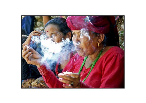 Im Rauch...
