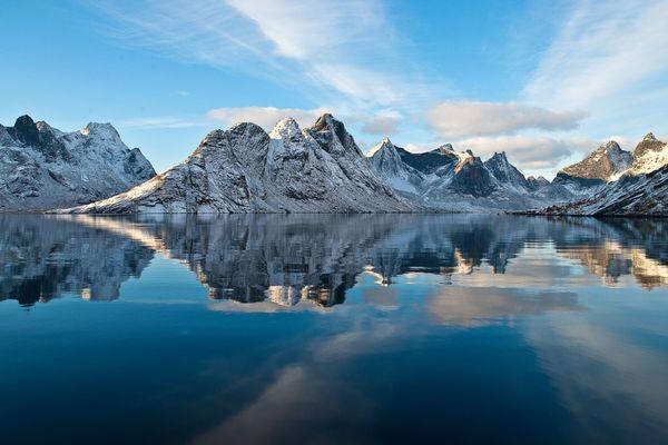 im Reinefjord . . .