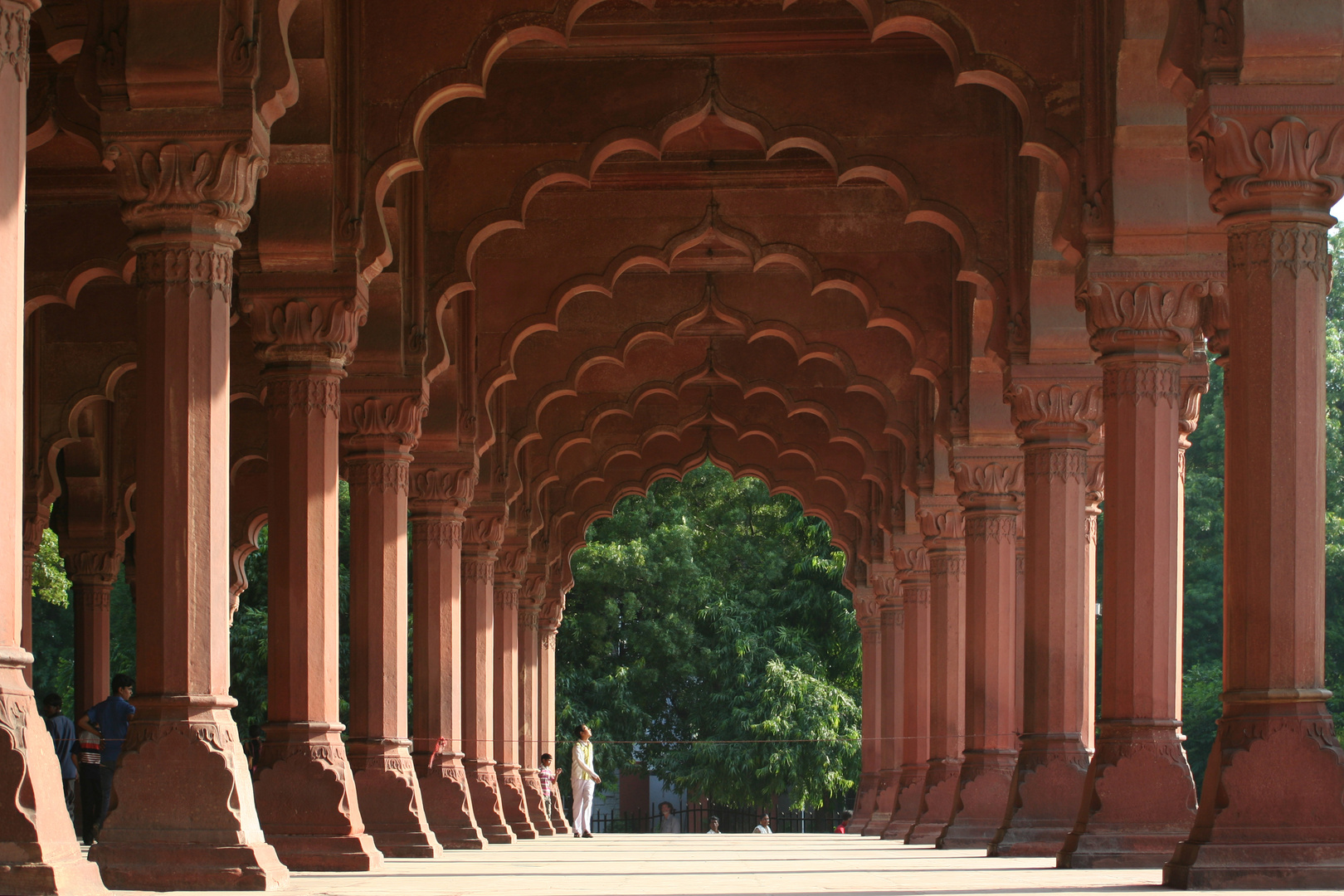 Im roten Fort in Delhi
