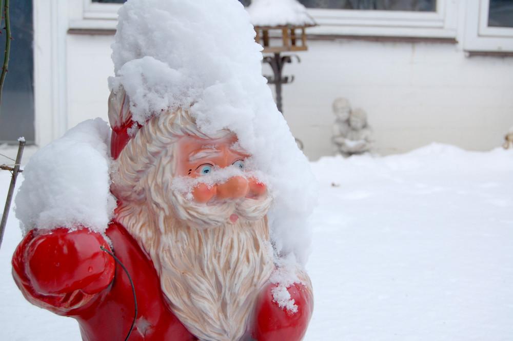 Im Schnee versteckt