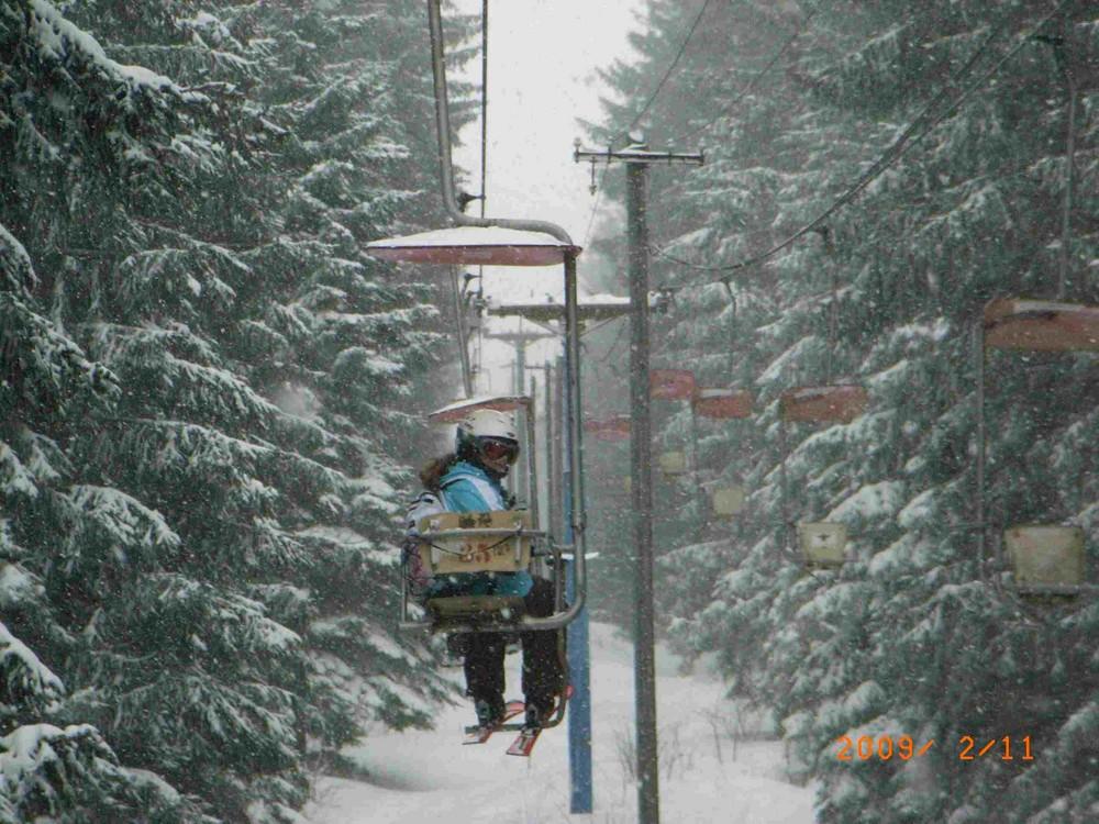 Im Schneetreiben nach oben
