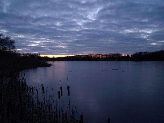 Im Sonnenuntergang am Stoteler See