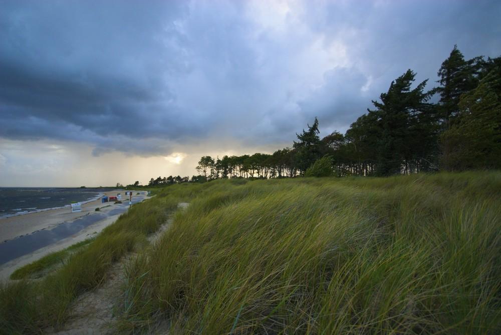 Im Sturm kurz vor Wyk