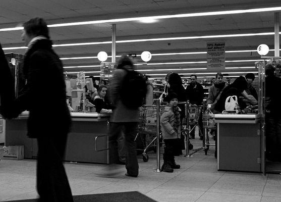 Im Supermarkt...
