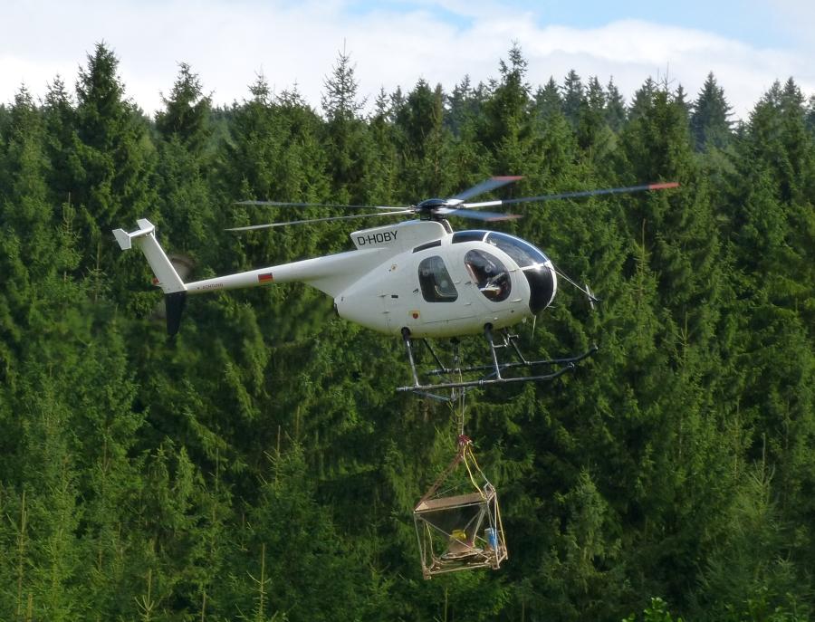 Im Tiefflug über die Wälder